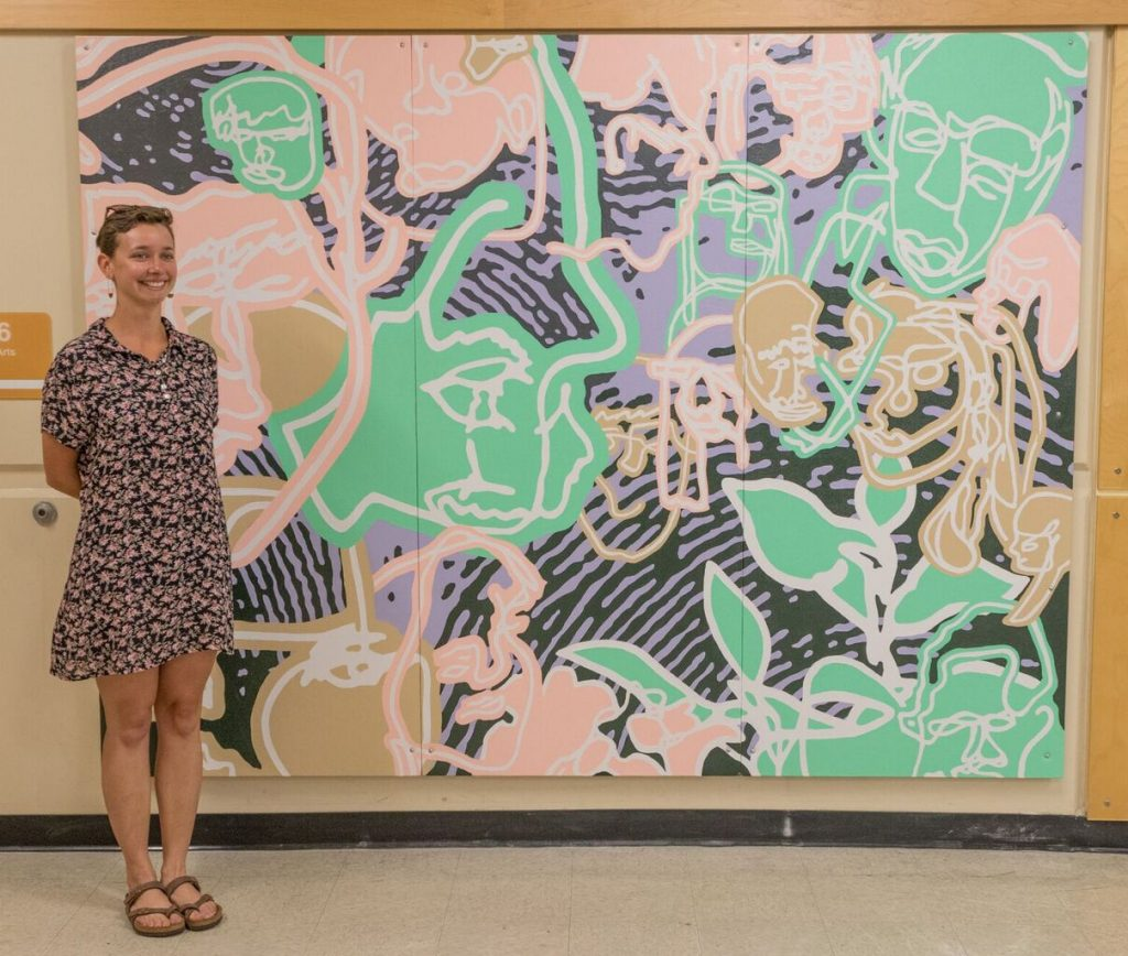 Jaymie with A.R. MacNeill Mural