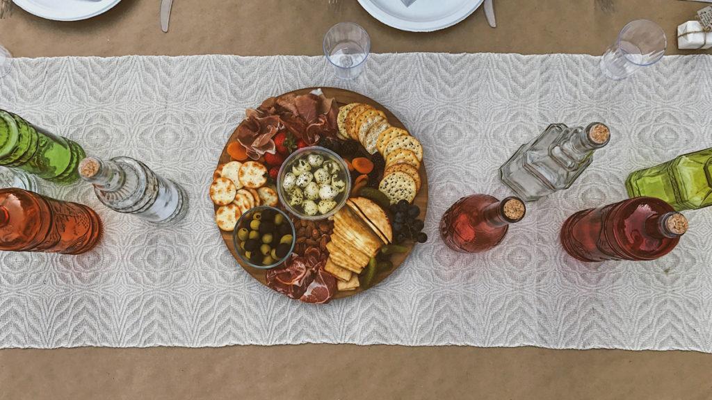 Farm to table restaurant platter