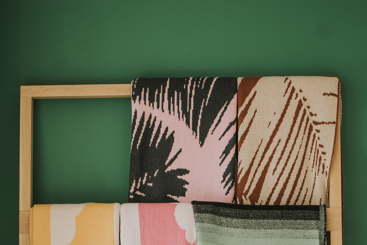 Forest green accent wall