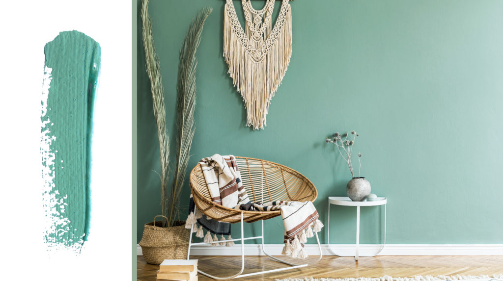 muted teal paint colour trends 2020