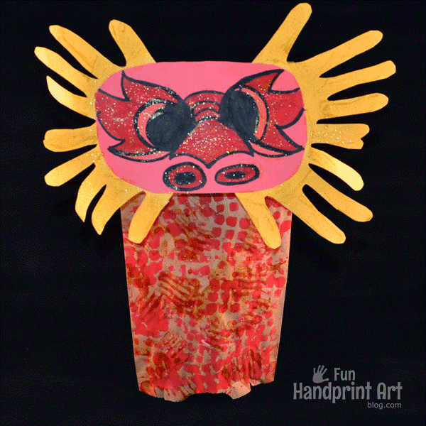 diy dragon paper craft for chinese new year